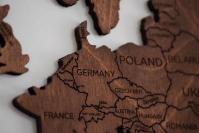 Karte mit Polen